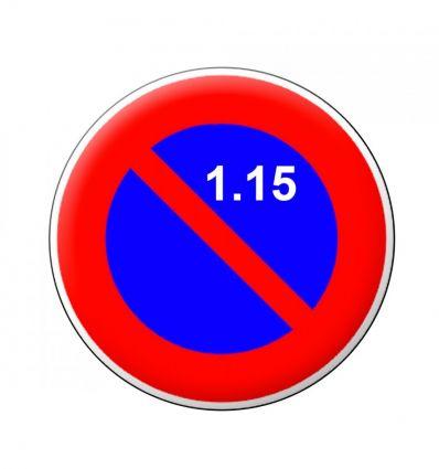 B6a2 - Panneau stationnement interdit du 1er au 15 du mois Mysignalisation.com