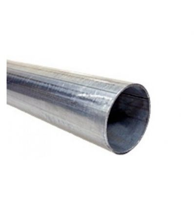Poteau de fixation en acier galvanisé diamètre 76 mm hauteur 4 mètres Mysignalisation.com
