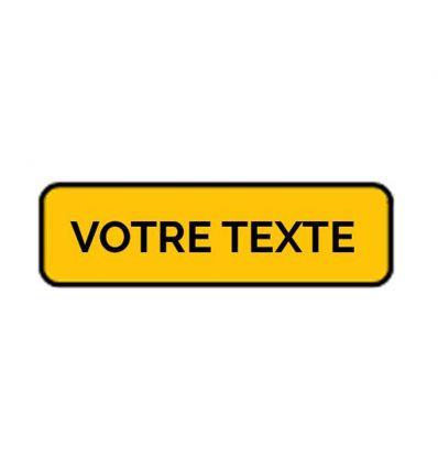 KM9 - Panonceau temporaire avec texte sur mesure personalisable mysignalisation