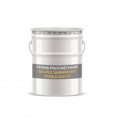 Vernis polyuréthane souple garnissant stable aux UV