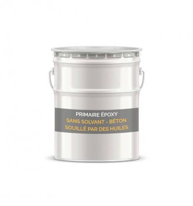 Primaire époxy sans solvant béton souillé par des huiles