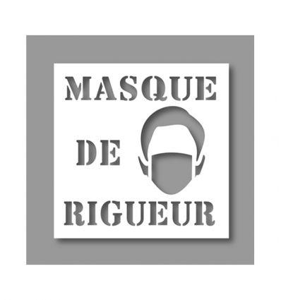 Pochoir : Masque de rigueur