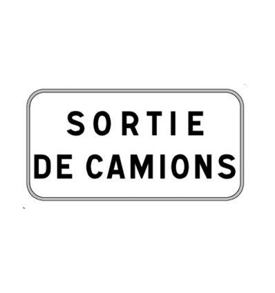 Panonceau M9z : Sortie de camions