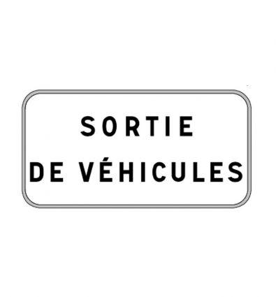 Panonceau M9z : Sortie de véhicules
