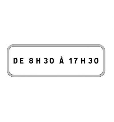 Panonceau M9z : Stationnement de 8h30 à 17h30