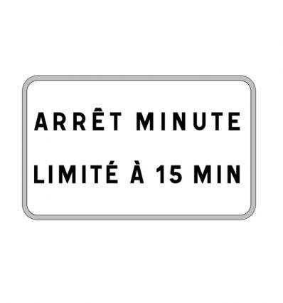 Panonceau M9z : Arrêt minute