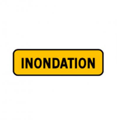 KM9 - Panonceau temporaire mentionnant une inondation mysignalisation