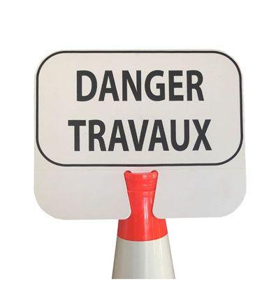 Panneau de signalisation à clipser : Danger Travaux
