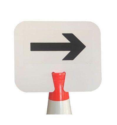 Panneau de signalisation flèche à clipser