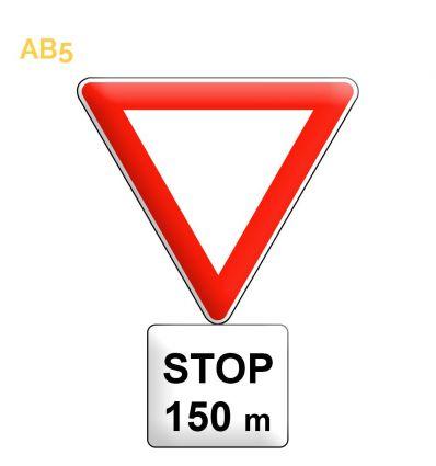 AB5 - Panneau arrêt à l'intersection. Signal avancé du AB4 Mysignalisation.com