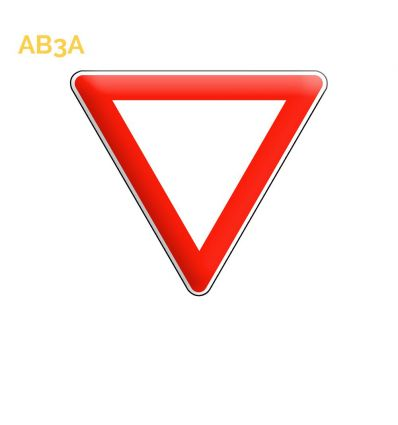 AB3a - Panneau cédez le passage à l'intersection