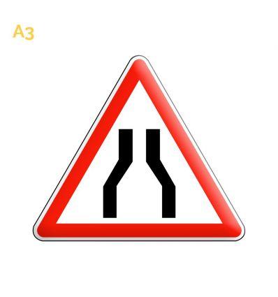 A3 - Panneau chaussée rétrécie mysignalisation.com