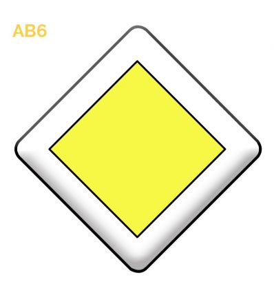 AB6 - Panneau d'indication du caractère prioritaire d'une route Mysignalisation.com