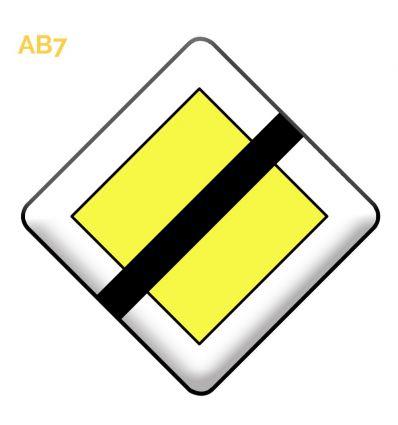 AB7 - Panneau d'indication fin du caractère prioritaire d'une route Mysignalisation.com