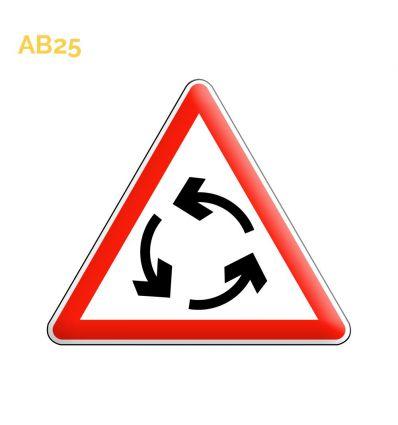 AB25 - Panneau carrefour à sens giratoire Mysignalisation.com