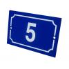 Plaque de numéro de rue plate