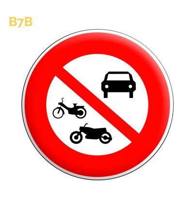 B7b - Panneau accès interdit à tous les véhicules à moteur Mysignalisation.com
