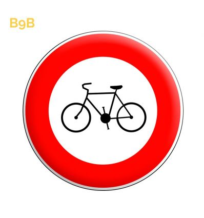 B9b - Panneau accès interdit aux cycles Mysignalisation.com