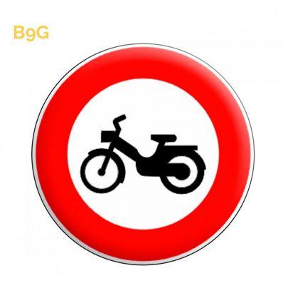 B9g - Panneau accès interdit aux cyclomoteurs