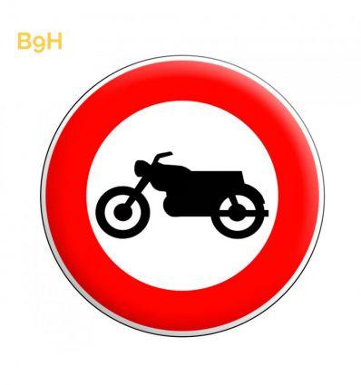 B9h - Panneau accès interdit aux motocyclettes et motocyclettes légères