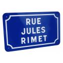 Plaque de nom de rue plate