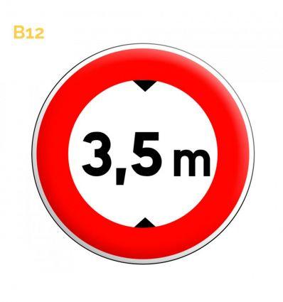 B12 - Panneau hauteur limite