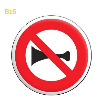 B16 - Panneau signaux sonores interdit Mysignalisation.com