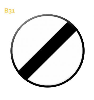 B31 - Panneau fin de toutes les interdictions précédemment signalées Mysignalisation.com