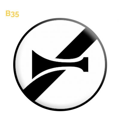 B35 - Panneau fin d'interdiction de l'usage de l'avertisseur sonore Mysignalisation.com
