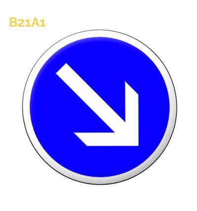 B21a1 - Panneau contournement obligatoire par la droite Mysignalisation.com