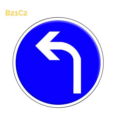 B21c2 - direction obligatoire à la prochaine intersection: à gauche Mysignalisation.com