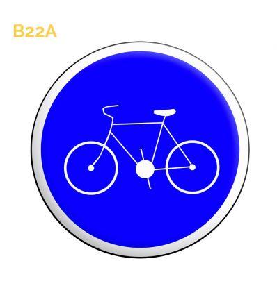 B22a - Panneau piste ou bande obligatoire pour les cycles sans side car ou remorque Mysignalisation.com