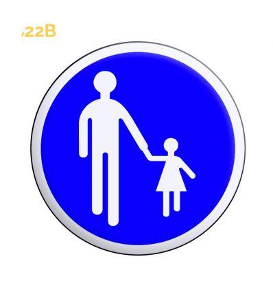 B22b - Panneau chemin obligatoire pour piétons Mysignalisation.com