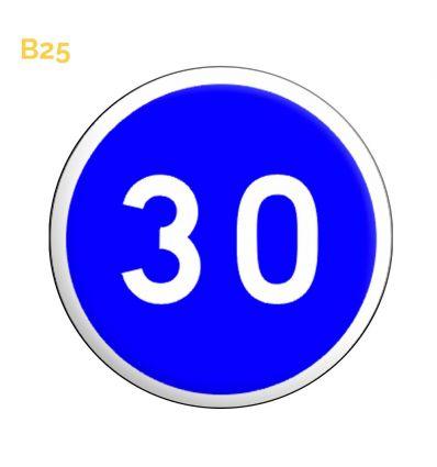 B25 - Panneau vitesse minimale obligatoire Mysignalisation.com