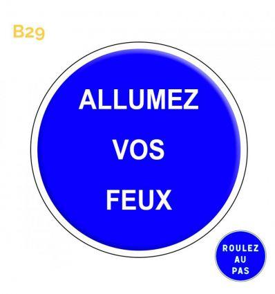 B29 - Panneau autres obligations dont la nature est mentionnée par une inscription sur le panneau Mysignalisation.com