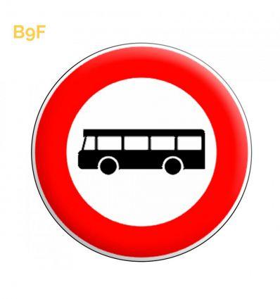 B9f - Panneau accès interdit aux véhicules de transport en commun