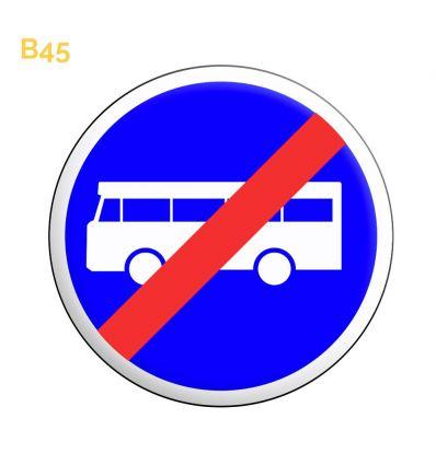 B45 - Panneau fin de voie réservée aux véhicules des services réguliers de transport en commun Mysignalisation.com