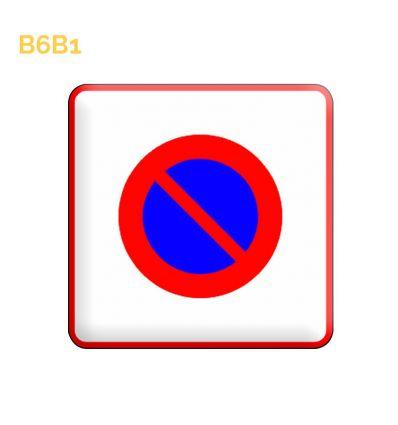 B6b1 - Panneau entrée d'une zone à stationnement interdit Mysignalisation.com