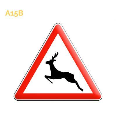 A15b - Panneau passages d'animaux sauvages Mysignalisation.com