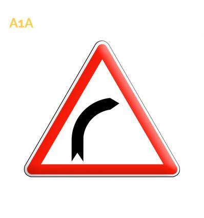 A1a - Panneau virage à droite Mysignalisation.com