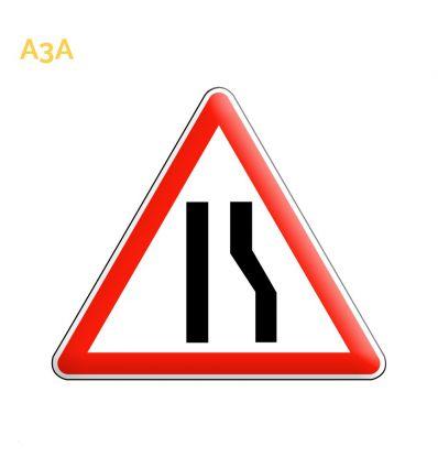 A3A - Panneau chaussée rétrécie par la droite Mysignalisation.com
