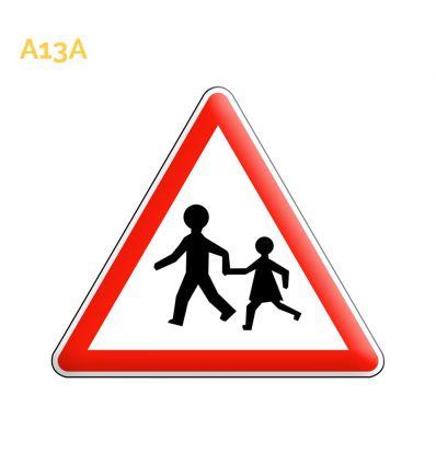 A13a - Panneau endroit fréquenté par les enfants Mysignalisation.com