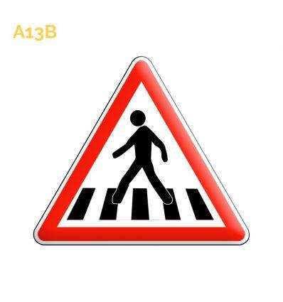 A13b - Panneau de passage pour piétons Mysignalisation.com