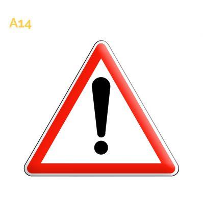 A14 - Panneau autres dangers Mysignalisation.com