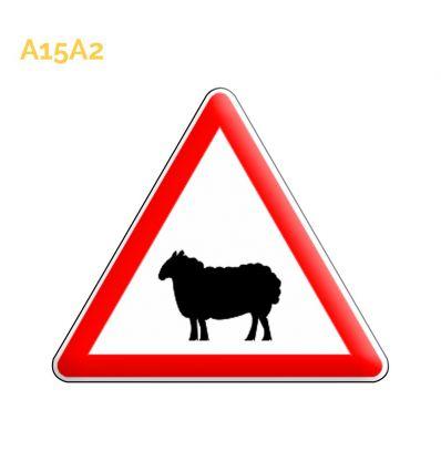 A15a2 - Panneau passage d'animaux domestiques Mysignalisation.com