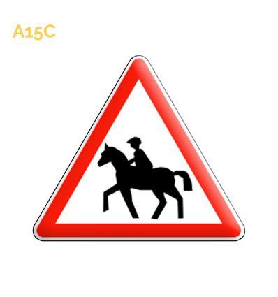 A15c - Panneau passages de cavaliers Mysignalisation.com