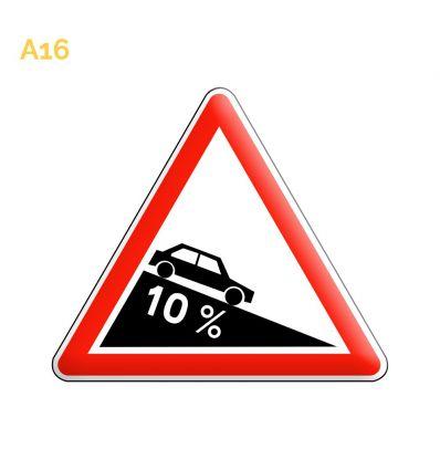 A16 - Panneau descente dangereuse Mysignalisation.com