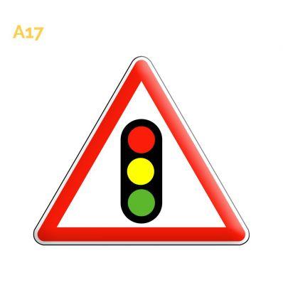 A17 - Panneau annonce de feux tricolores Mysignalisation.com