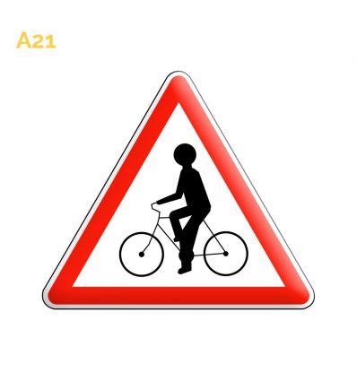 A21 - Panneau débouché de cycliste venant de la droite ou de la gauche Mysignalisation.com