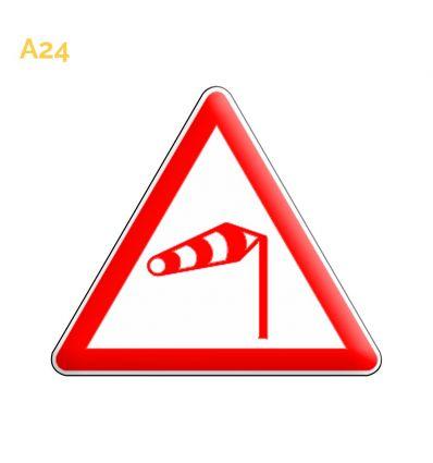 A24 - Panneau vent latéral Mysignalisation.com